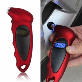 Car Motorcycle Bike Mini Digital LED Display Tire Pressure Gauge Red