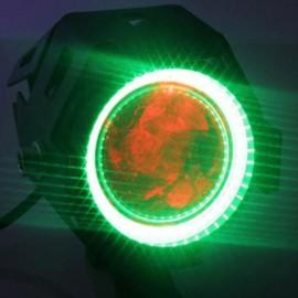 U7 Waterproof Motorcycle LED Driving Fog Light Spot Headlight Green Lamplight Black