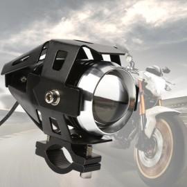 U5 Motorcycle LED Headlight Waterproof High Power Spot Light Black