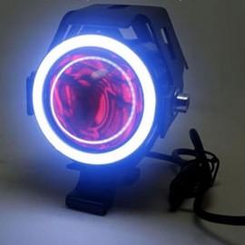 U7 Waterproof Motorcycle LED Driving Fog Light Spot Headlight White Lamplight Black