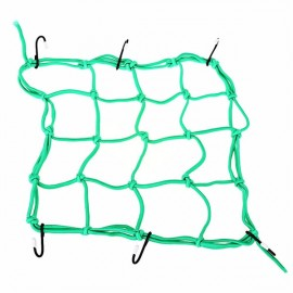 Motorcycle Bike Luggage Cargo Mesh Helmet Holder Fuel Tank Storage Carrier Net with 6 Hooks Green