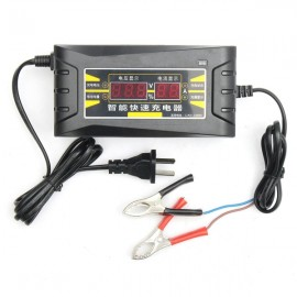 12V 6A LCD Display Smart Fast Battery Charger for Car Motorcycle US Plug