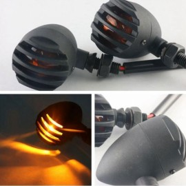 Motorcycle Bullet Turn Signal Light Indicator Lamp for Harley Honda 12V Yellow Light