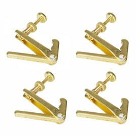 4 Pcs 4 / 4 Violin Fine Tuners Gold String Adjusters