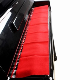 Soft Dust-proof Fleece Cover Cloth Red for Piano Keyboard
