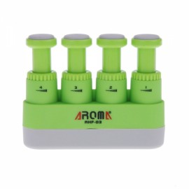 Aroma AHF-03 Portable Guitar Bass Piano Hand Finger Exerciser Medium Tension Hand Grip Trainer for Child Green