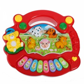 Baby Kids Animal Farm Keyboard Electrical Piano Child Musical Toy Red