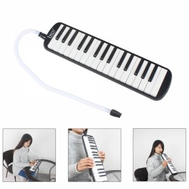IRIN 32-Key Melodica with Mouthpiece & Hose & Bag Black