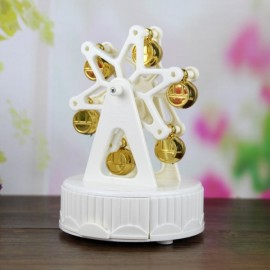 Creative Music Box Happiness Ferris Wheel Music Box Dynamic Rotary Music Box Home Decoration White