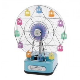 Creative Romantic Ferris Wheel Happiness Music Box Birthday Gifts Home Decoration with Light Blue