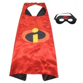 Kids Costume Super Hero Cape & Mask Agent Team Children Boy Girl Cosplay Suit Red