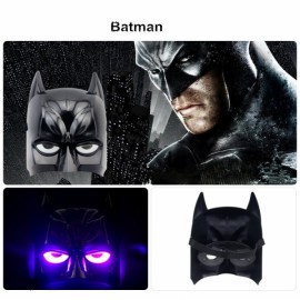 Halloween Costumes LED Light Superhero Batman Mask