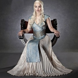Game of Thrones Daenerys Targaryen Evening Dress Cosplay Costume Halloween L