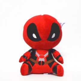 Q Version 20cm X-men Deadpool Movie Action Figure Plush Toy Red & Black