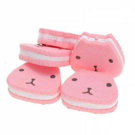 9.5CM Squishy Toy Cartoon Capybara Cake Soft Emulational Bread Phone Bag Keychain Strap Pink