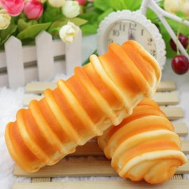 Squishy Soft Simulation 16cm French Bread Fun Gift Decoration Orange