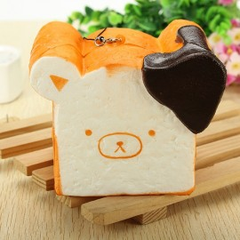 Squishy Toy 8 Seconds Slow Rising Super Soft Cute Fragrance Reality Touch Bear Toast Bread Decor Random Color