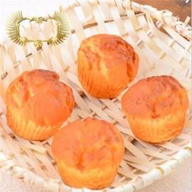 8CM Squishy Simulation Puff Bread Slow Rising Squishy Fun Toys Decoration Orange