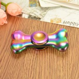 Colorful EDC Hand Spinner Finger Spinner Fidget Gadget Focus Reduce Stress Gadget Bone Shape
