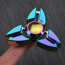 Colorful EDC Hand Spinner Finger Spinner Fidget Gadget Focus Reduce Stress Gadget Dazzle Color Crab Triangle Style