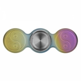"FURA ""The Eight Diagrams"" Pattern TC4 Titanium Alloy Stainless Steel Tungsten Steel Hand Spinner Toy Colorful"