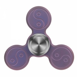 "FURA 3 Leaves ""The Eight Diagrams"" Pattern TC4 Titanium Alloy Stainless Steel Tungsten Steel Hand Spinner Toy Purple"
