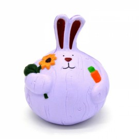 Kiibru Squishy Jumbo Onion Rabbit Slow Rising Toy with Original Package - Purple