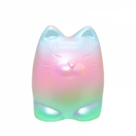 Kiibru Sweet Tiger Squishy 10.5cm Shiny Rainbow Multicolors Slow Rising With Packaging Collection - Green