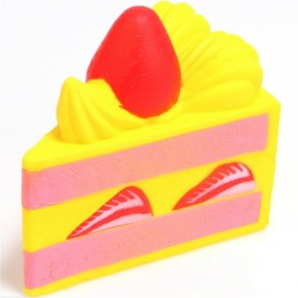 Squishy Fun Strawberry 15CM Cake Squishy Super Slow Rising Original Packaging Toy Collection - Yellow