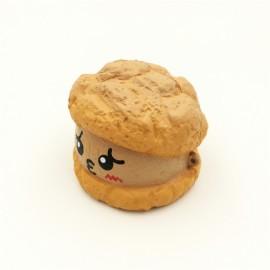 SquishyFun Emoji Face Cream Puff Squishy 7.5cm 30 Seconds Super Slow Rising With Original Packaging - Chocolate