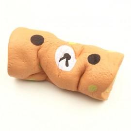 Squishy Fun Swiss Roll Kawaii Bear Sponge Cake Toy Super Slow Rising 15cm With Original Packaging - Orange
