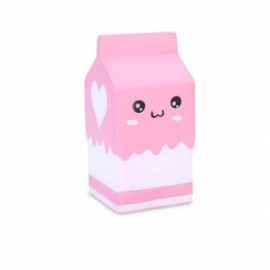 Squishy Jumbo Pink Milk Bottle Box 12cm Slow Rising Soft Collection Gift Decor Toy - Pink