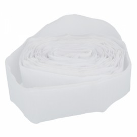 7cm Width Nylon and Polyester Fiber Hook and Loop Velcro White