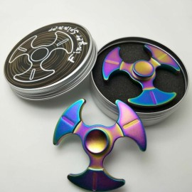 Zinc Alloy Tri Axe Dart Rotating Fidget Hand Spinner ADHD Autism Fingertips Fingers Gyro Reduce Stress Toys Gift Multicolor