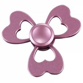 Clover Aluminium Alloy EDC Hand Spinner Gadget Finger Spinner Focus Reduce Stress Gadget Pink