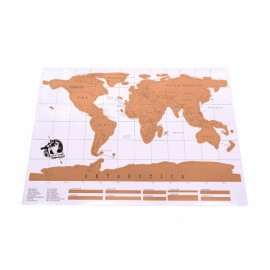 Scratch World Map Regular Edition White