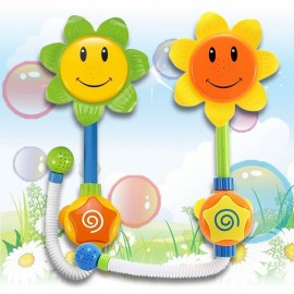 Lovely Baby Sunflower Nozzle Bathing Toy Water Sprayer Faucet Plastic Wash Toy Random Color