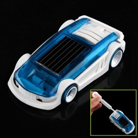 New Solar Salt Water Hybrid Car Solar Power Toy for Children Gift Blue & White