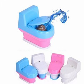 Joke Toy Tricky Water Spray Toilet Seat for April Fools' Day Color Random