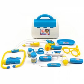15pcs Kids Doctor Nurse Toy Children Pretend Play Case Child Gift Set Blue