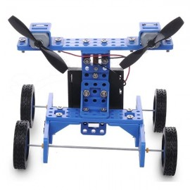 DIY Rubber Wheel Trolley Wind NO.34 Model Kit for Arduino DIY Handmade Assembling Blue & Black