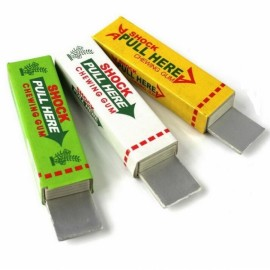 Funny Electric Shock Chewing Gum Pull Head Safety Trick Joke Toy