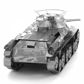 Japanese 97 Tank Model No-glue Metallic Steel Nano 3D Puzzle DIY Jigsaw Silver