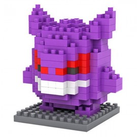 150pcs M-9138 Pokemon Gengar Building Block Educational Toy for Cooperation Ability Purple