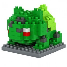 120pcs M-9139 Pokemon Bulbasaur Building Block Educational Toy for Cooperation Ability Green