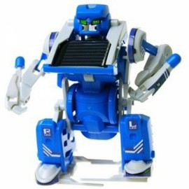 DIY 3-in-1 Educational Solar Power Assembling Toy Set Blue & White