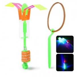 Arrow Helicopter Faery Flying Toy with LED for Children Outdoor Entertainment Green