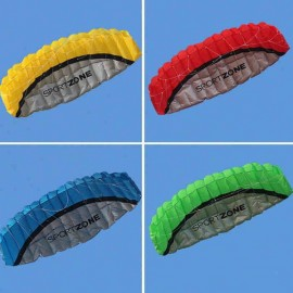 2.5m Huge Frameless Stunt Parafoil Flying Kite Dual Lines Control with 30m Line + Line Board Red