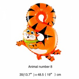 16 inch Animal Number Aluminum Foil Balloon Birthday Party Decoration Balloon Number 8