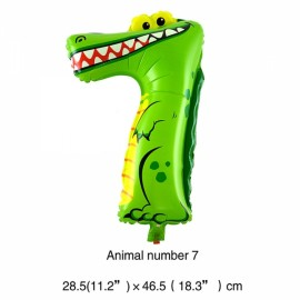 16 inch Animal Number Aluminum Foil Balloon Birthday Party Decoration Balloon Number 7